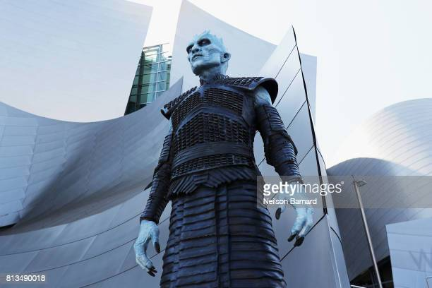 A white walker attends the premiere of HBO's Game Of Thrones season 7 at Walt Disney Concert Hall on July 12 2017 in Los Angeles California