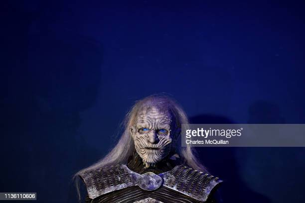 White Walker can be seen on display at the Game Of Thrones The Touring Exhibition press launch at Titanic Exhibition Centre on April 10 2019 in...