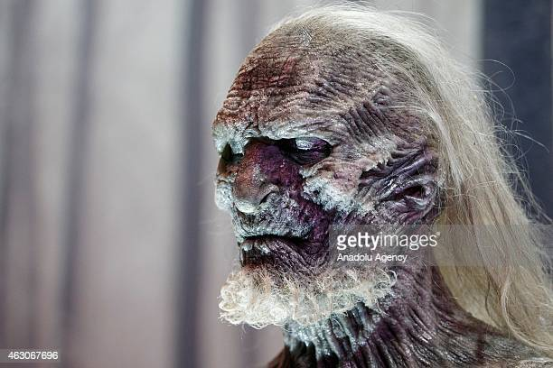 White Walker model figure at 'Game of Thrones The Exhibition' at the O2 in London England on February 09 2015 The exhibition showcasing a collection...