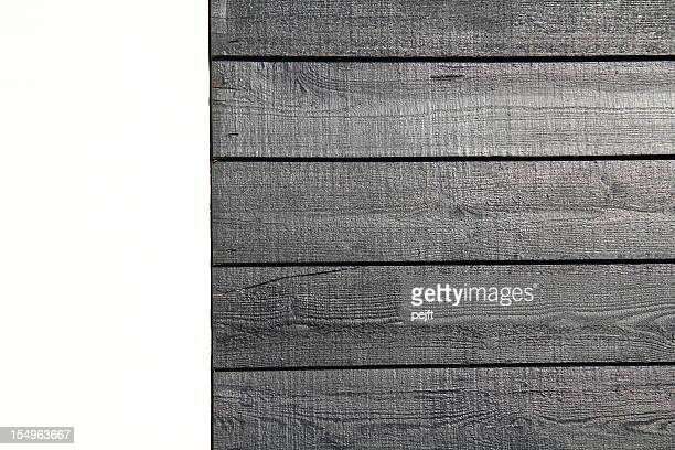 white wall and black painted planks - pejft stock pictures, royalty-free photos & images