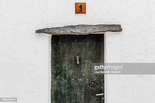 White Wall With Closed Door