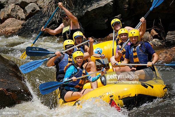 white water rafting, colorado - rafting stock pictures, royalty-free photos & images