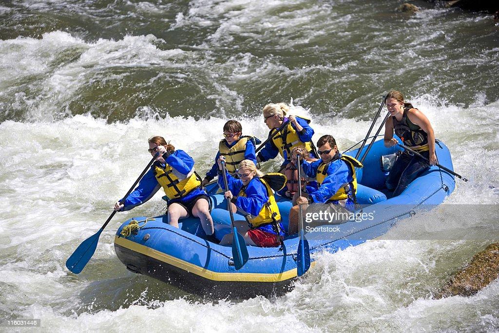 Rafting no Colorado : Foto de stock