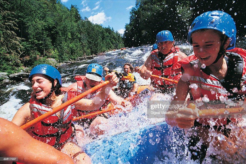 White Water Rafting : Foto de stock