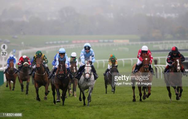 White Water ridden by Edward Vaughan on his way to winning the Charles Owen Pony Race 148cm Under during the November Meeting at Cheltenham...