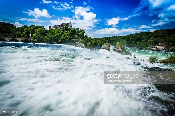 White water waterfall at Rheinfall, Switzerland