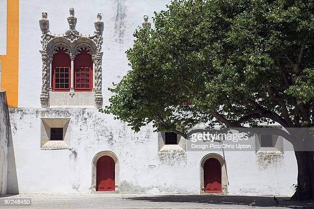 White weathered building, Sintra, Portugal