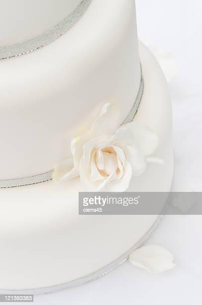 White Wedding Cake Detail