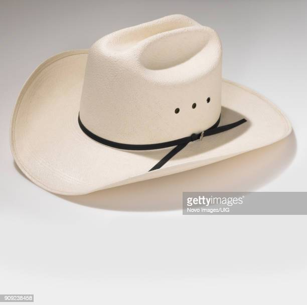 white western hat - white hat fashion item stock photos and pictures