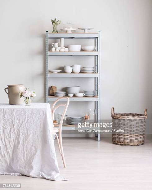 White Wicker Basket At Home