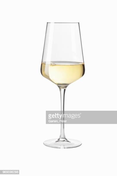 white wine in a glass - white wine stock pictures, royalty-free photos & images