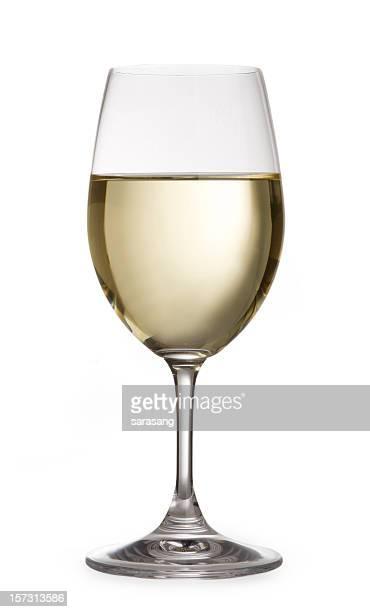 white wine isolated