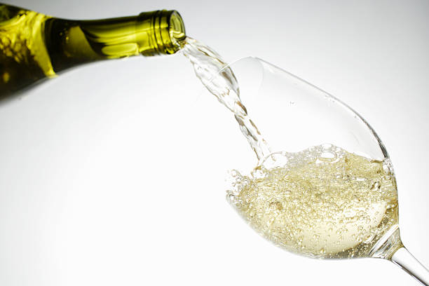 White Wine Pouring Into Glass Wall Art
