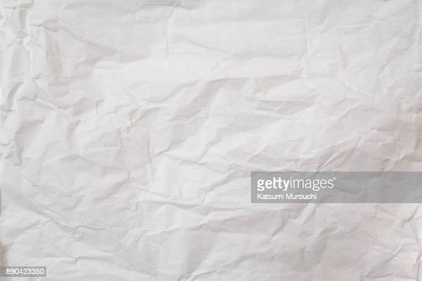 White winkled paper texture background