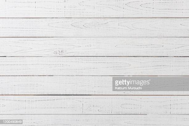 white wood board texture background - hout stockfoto's en -beelden
