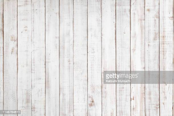 white wood paneling texture background - hout stockfoto's en -beelden
