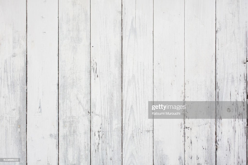 White wood textures background : Stock Photo