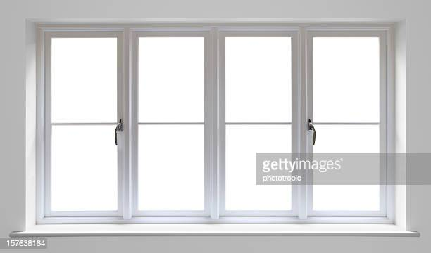 white wooden window - window frame stock pictures, royalty-free photos & images