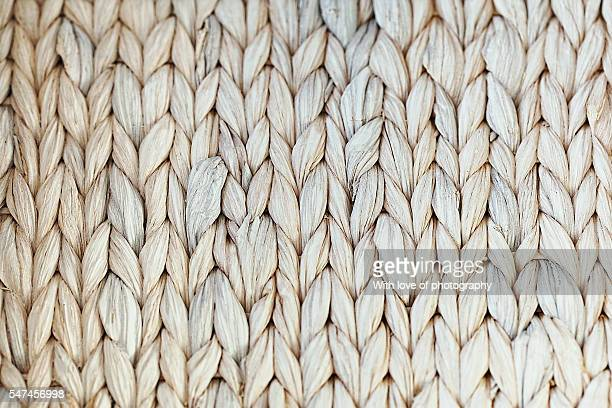 white woven straw texture background