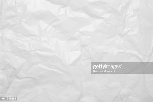 white wrinkle paper texture background - しわ ストックフォトと画像