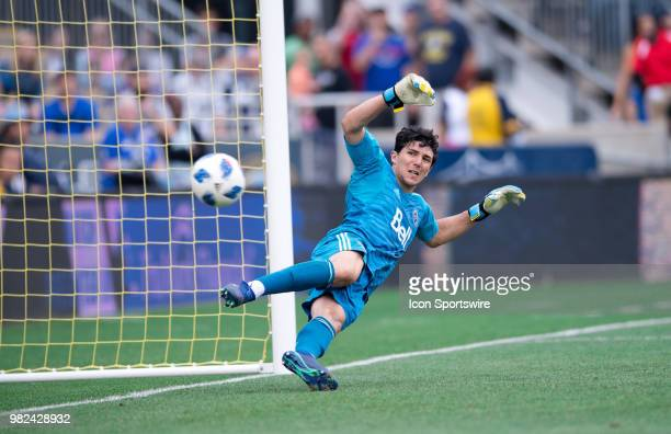 Whitecaps Keeper Brian Rowe watches as the ball flies past him on a penalty kick in the second half during the game between Vancouver Whitecaps FC...