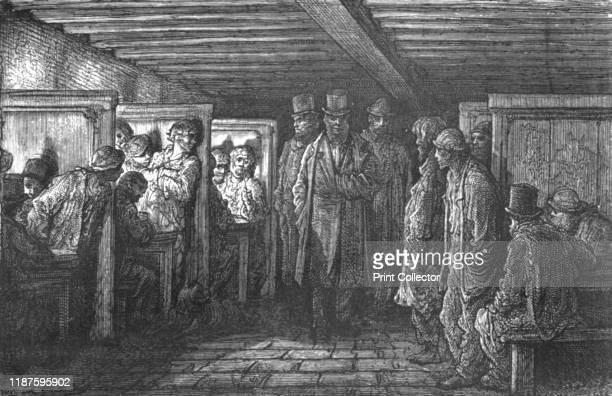 A Whitechapel Coffee House' 1872 From LONDON A Pilgrimage by Gustave Dore and Blanchard Jerrold [Grant and Co 7278 Turnmill Street EC 1872] Artist...