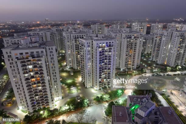 Whitefield neighborhood of Bangalore Residential aera in Whitefield a neighbourhood of Bangalore on February 15 2015 in Bangalore India