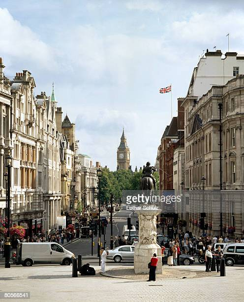 whitehall, london - whitehall london stock photos and pictures