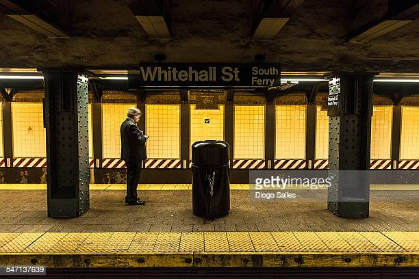 whitehall station - new york city subway stock pictures, royalty-free photos & images