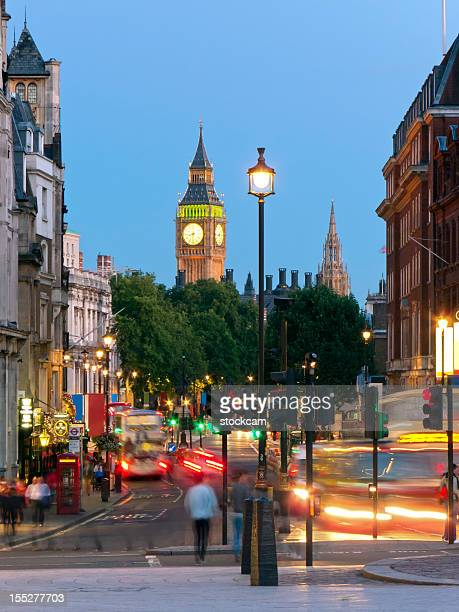 whitehall street scene, london - whitehall london stock pictures, royalty-free photos & images