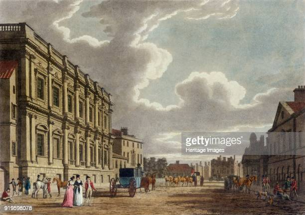 Whitehall, Westminster, London, 1794. View looking south along Whitehall, showing the Banqueting House. From the Mayson Beeton Collection.