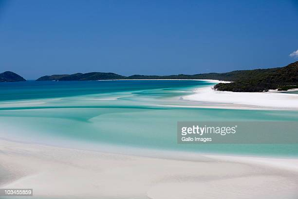 Whitehaven Beach, Hill Inlet, Tounge Point, Whitsunday Island, Whitsunday Islands, Queensland, Australia