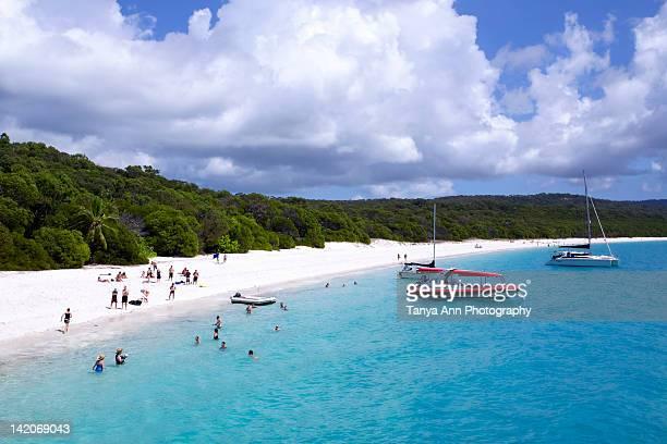 whitehaven beach in whitsundays, australia - whitehaven beach stock photos and pictures