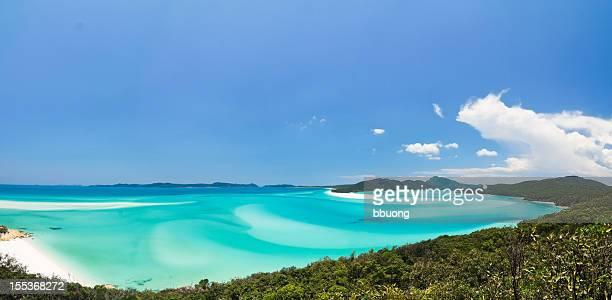 whitehaven beach (whitsunday island, australia) - whitehaven beach stock photos and pictures