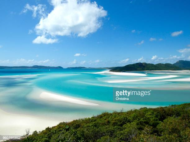 whitehaven beach - whitehaven beach stock photos and pictures