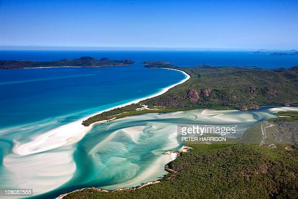 whitehaven beach, whitsunday island, queensland, australia - whitehaven beach stock photos and pictures