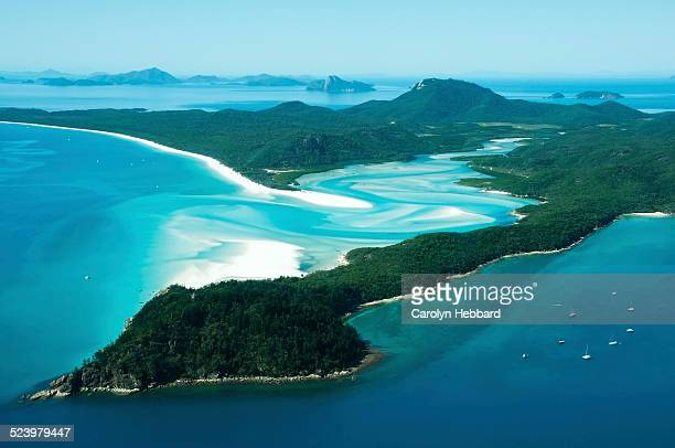 whitehaven beach, whitsunday islands - whitehaven beach stock-fotos und bilder