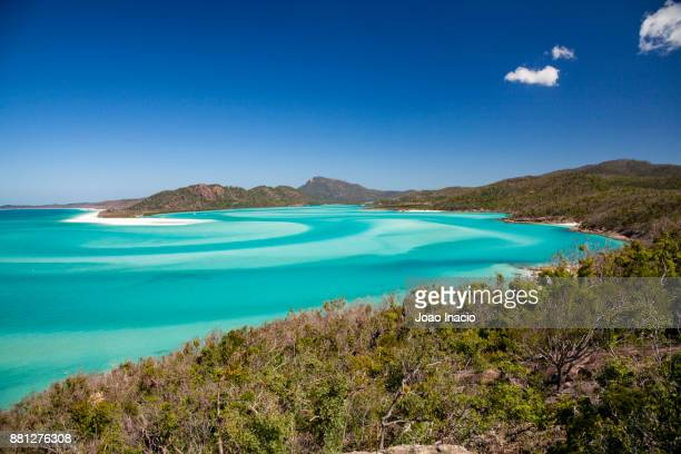 whitehaven beach, whitsunday, queensland, australia - whitehaven beach stock photos and pictures