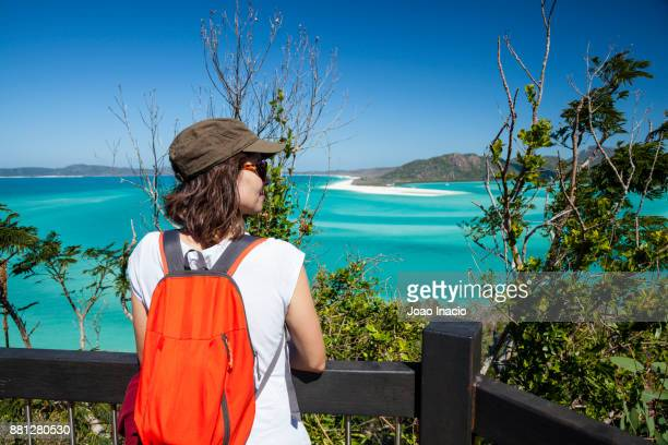 whitehaven beach, whitsunday, queensland, australia - whitehaven beach stock-fotos und bilder