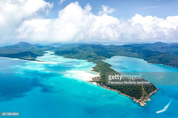 whitehaven beach, whitsundays islands - whitehaven beach stock-fotos und bilder