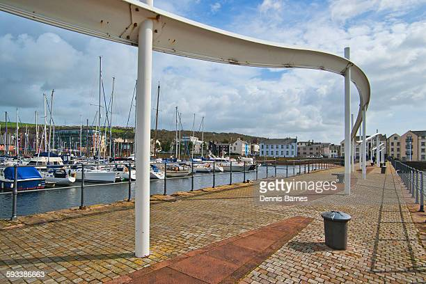 whitehaven busy harbour and marina, cumbria - whitehaven cumbria stock pictures, royalty-free photos & images