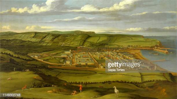 Whitehaven, Cumbria, Showing Flatt Hall Prospect View of Whitehaven, Cumbria, Showing Flatt Hall, to the Left, Matthias Read, 1669-1747, British