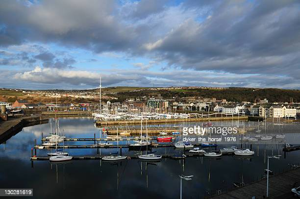 whitehaven harbour, cumbria, england - whitehaven cumbria stock pictures, royalty-free photos & images