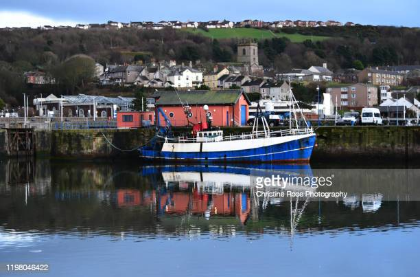 whitehaven town and harbour on christmas day - whitehaven cumbria stock pictures, royalty-free photos & images