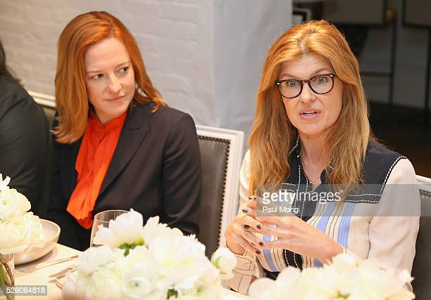 Whitehouse Communications Director, Jen Psaki and actress Connie Britton attend the Glamour and Facebook brunch to discuss sexism in 2016, during...