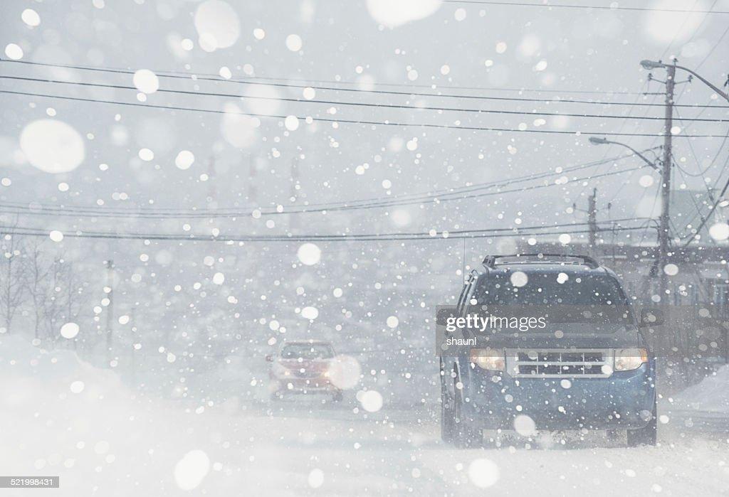 Whiteout condições : Foto de stock