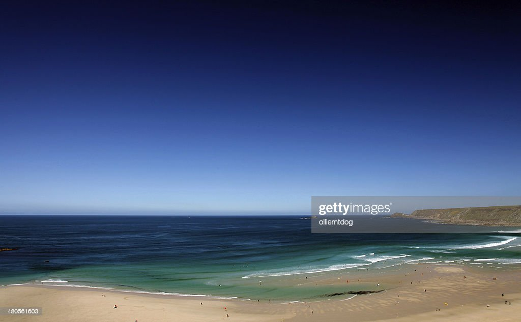 Whitesand Bay Cornwall : Stock Photo
