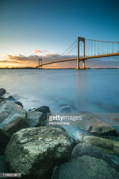 whitestone bridge - flushing queens stock pictures, royalty-free photos & images