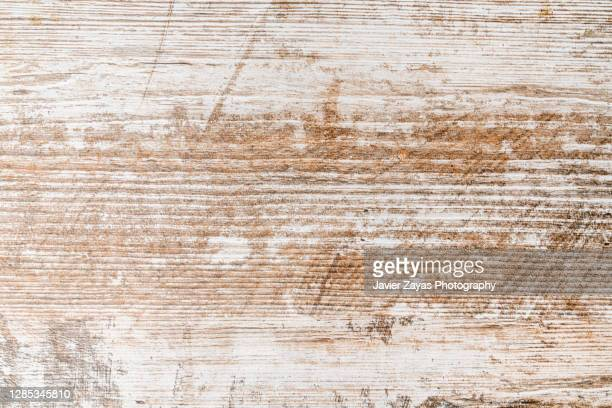 white-washed and scratched rustic wooden background - wood material stock pictures, royalty-free photos & images