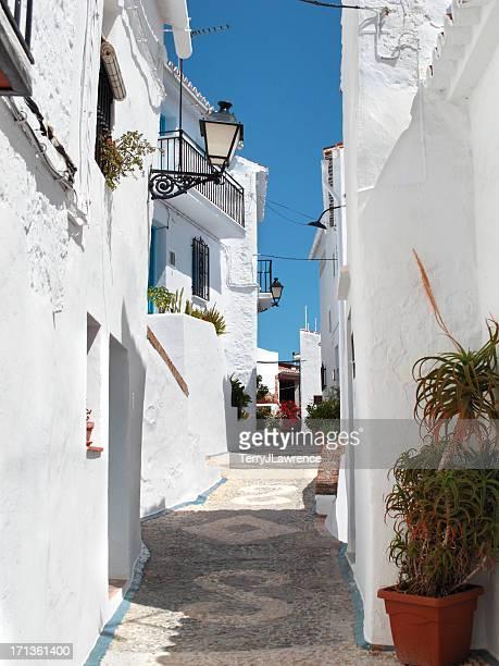 Maisons blanchies à la chaux de Frigiliana, Province de Malaga, en Espagne